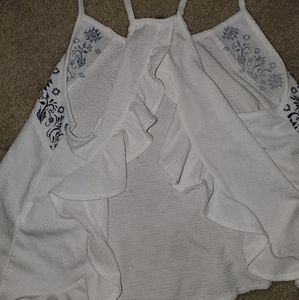 Cute crop top with open back